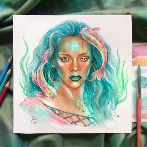 celebrities  zodiac signs color pencil drawings  andre