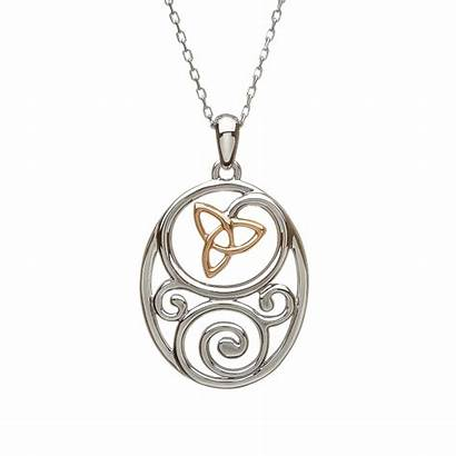Celtic Knot Trinity Pendant Rose Irish Rare