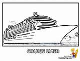 Cruise Coloring Ship Ships Boat Liner Stupendous Yescoloring Boats Printables Bold Outs Cruises Bossy sketch template