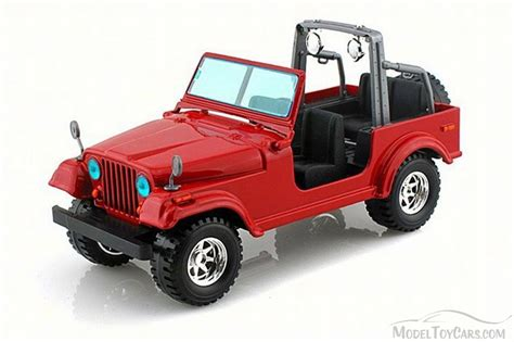 red toy jeep jeep wrangler red bburago 22033 1 24 scale diecast