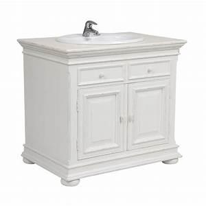 Meuble de salle de bain blanc interior39s for Meuble salle de bain interiors