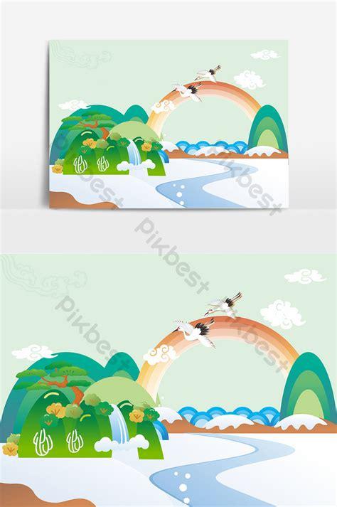 landscape scenery vector element background png images