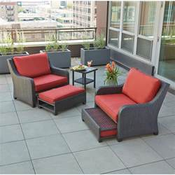 hton bay fall river 4 piece patio seating set with