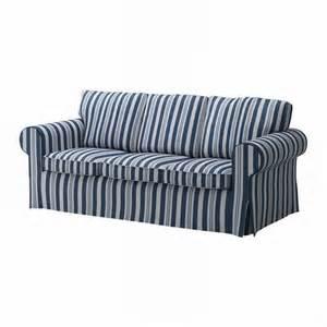 ikea ektorp 3 seat sofa cover slipcover abyn blue white stripes 197 byn