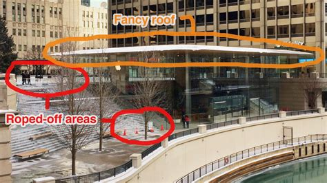 apple s macbook air like store roof wasn t designed to handle snow in chicago