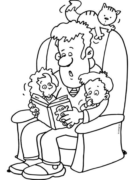 Kleurplaat Opa En Oma Met Baby by Kleurplaat Oma Leest Voor Categorie Lezen Titel Vader