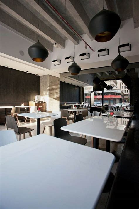 table cuisine moderne modern restaurant in black and white colors theme ubon
