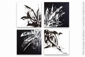Tableau Deco Noir Et Blanc : tableau noir et blanc design homog n it ~ Teatrodelosmanantiales.com Idées de Décoration