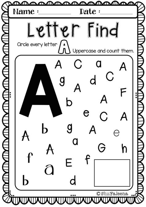 alphabet letter   week    tpt