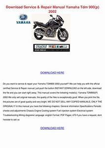 Download Service Repair Manual Yamaha Tdm 900 By