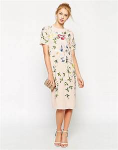 asos asos bird and floral embroidered shift dress at asos With shift dresses for wedding guests