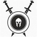 Gladiator Icon Shield Sword Roman Army Weapon