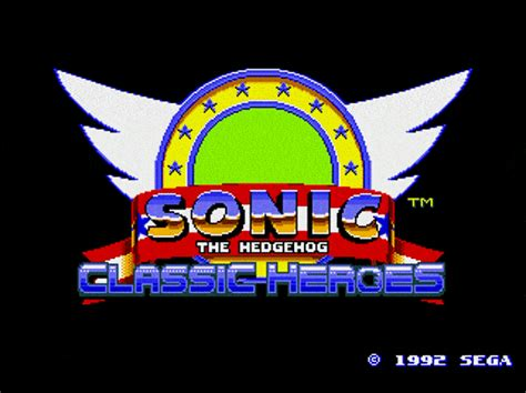 sonic classic heroes play game