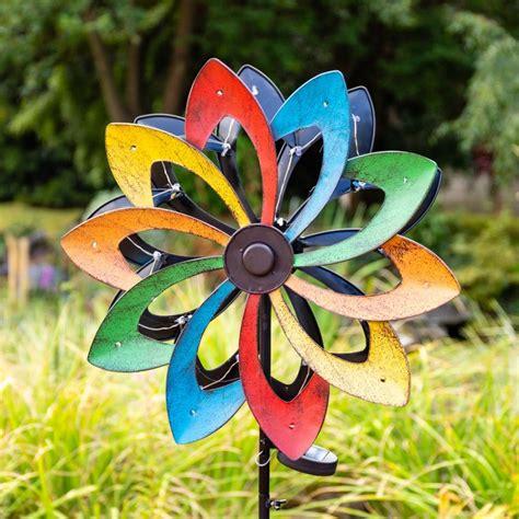 """165cm Windrad  Windspiel """"sternschnuppe"""" Mit Solarleuchte"""