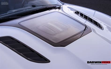Jaguar F Type Imp Style Hood Bonnet W/ Glass Engine Reveal
