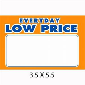 """Screen Gems Sign """"Everyday LlowPrices,"""" 3½in x 5½in"""