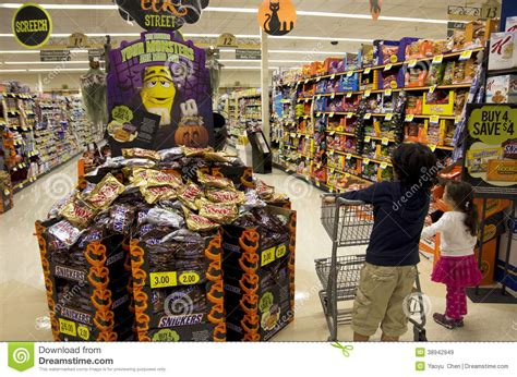 Kids Halloween Shopping Editorial Stock Image Image Of