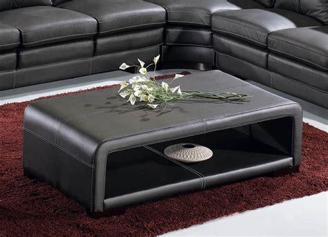 fauteuil de chambre deco in table basse cuir noir avec rangement tab basse pu havane noir