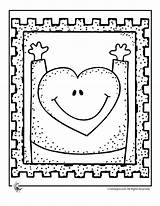 Stamp Coloring Heart Pages Printer Activities Jr sketch template