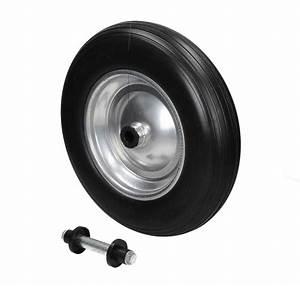 Roue De Brouette Avec Axe : roue de secours brouette noir 350 pu avec axe ~ Melissatoandfro.com Idées de Décoration