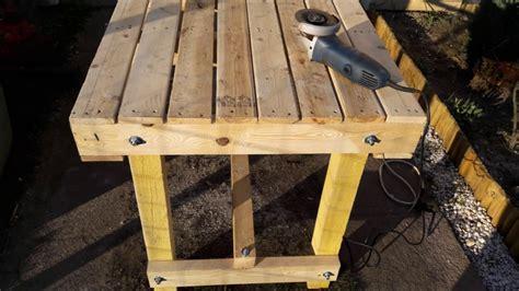 fabriquer une table de fabriquer une table avec des palettes