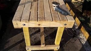 fabriquer une table avec des palettes youtube With fabriquer sa table de jardin en bois