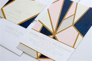 modern geometric industrial wedding invitations via With modern wedding invitations denver