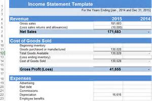 Income Statement Spreadsheet Gallery For Gt Income Statement Exle Excel