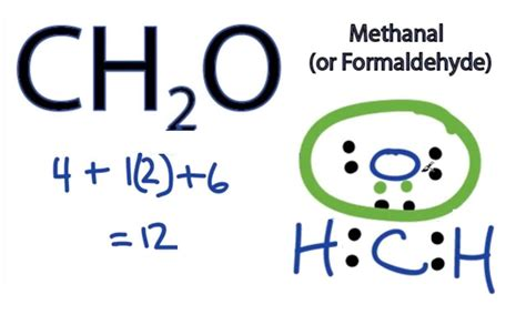 H2co Dot Diagram by Ch2o Lewis Structure How To Draw The Dot Structure For