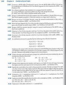 Solved  240 Chapter 4 Combinational Logic 4 19 Construct A
