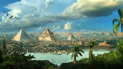 Egypt Pyramids Fantasy Cityscape 1080p Hdtv Richard