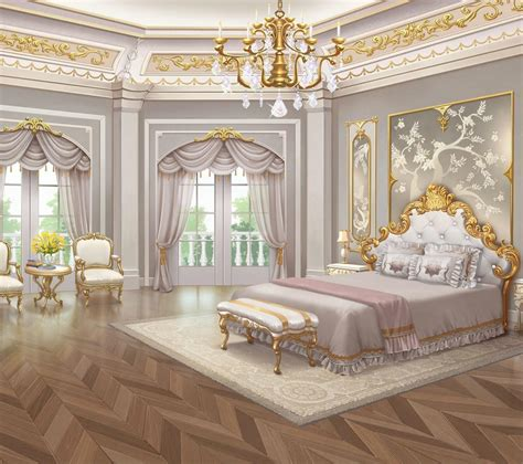 princess bedroom background night art resources