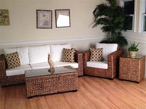 Furniture amusing wicker narrow coffee table and wicker for Cane furniture for living room