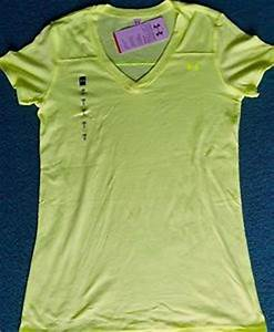 NWT Under Armour XL Womens Bright Neon Yellow V Neck
