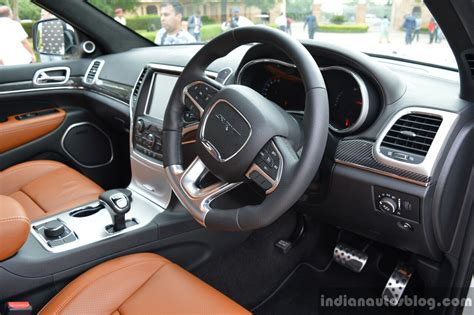srt jeep 2016 interior srt grand cherokee interior launched in india indian