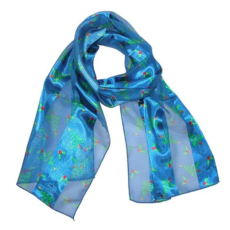 womens satin holiday christmas tree scarves pack of 2 by