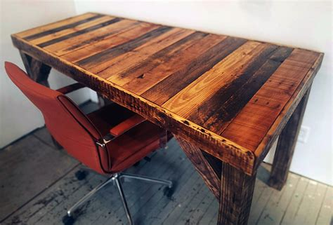 33 Stunning Reclaimed Wood Desks. Dining Table Dimensions. Mission Style End Tables. Wood Dining Room Table. Tractor Seat Desk Chair. Pottery Barn Glass Desk. Top 10 Office Desks. White Wash Wood Table. Small Folding Desk Table