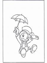 Jiminy Cricket Coloring Pages Disney Pinocchio Letter Getcoloringpages Funnycoloring Characters Comic Advertisement sketch template