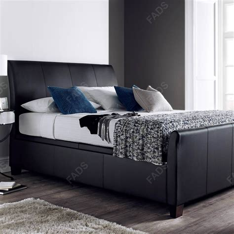 Leather Ottoman Bed by Kaydian Allendale Ottoman Storage Bed Faux Leather Fads