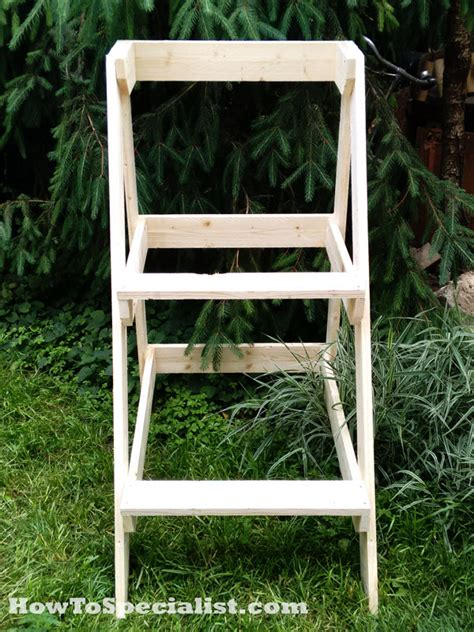 diy ladder plant stand myoutdoorplans  woodworking