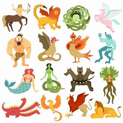 Mythical Creatures Vector Centaur Colorful Characters Clip