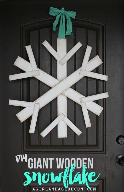 Make A Giant Wood Snowflake A And A Glue Gun