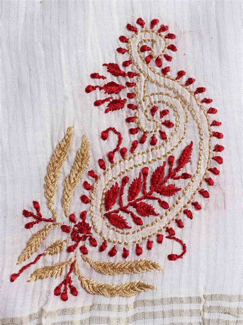 fc1ec7c59 offwhite chanderi cotton dupatta with chikankari