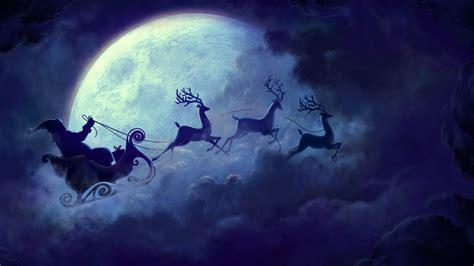 santa claus moon wallpapers hd wallpapers