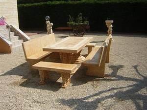 Salon De Jardin En Pierre : mobilier de jardin ~ Teatrodelosmanantiales.com Idées de Décoration