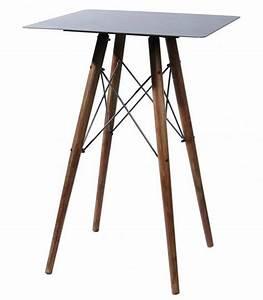 Table Bois Et Fer : table haute de bar design en fer et bois kleen pomax ~ Teatrodelosmanantiales.com Idées de Décoration