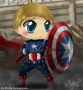 Chibi Steve Rogers Captain America