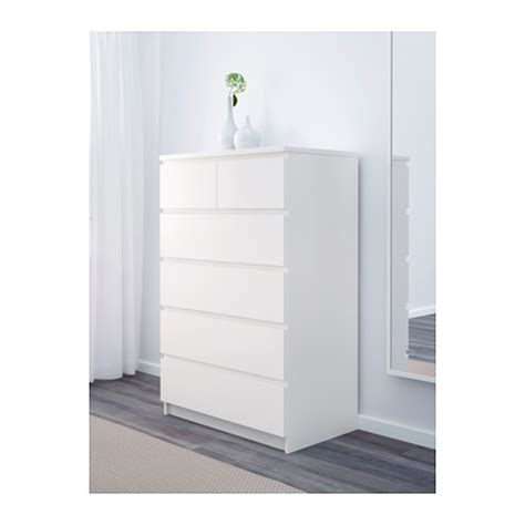 malm chest of 6 drawers white 80x123 cm ikea