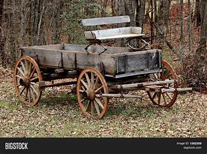 Old Wooden Wagon Image & Photo | Bigstock