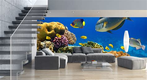 wall to wall murals underwater wall mural ideas for your living rooms mural factory